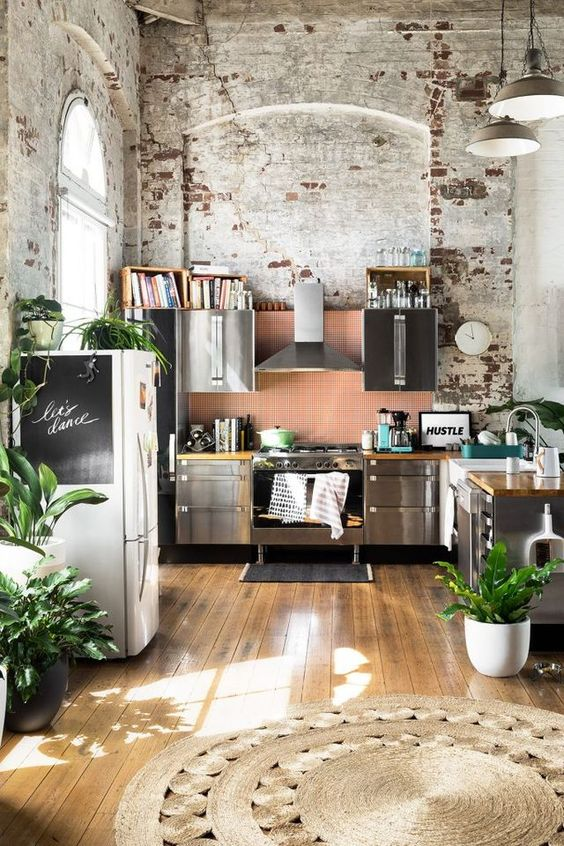 House Plant Accents for an Industrial Loft