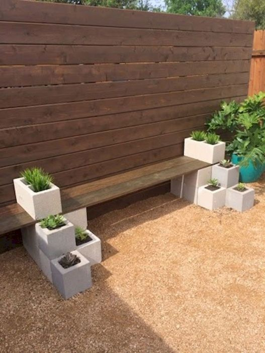 Simple Modern Bench Planter