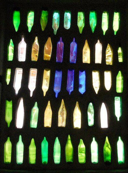 Earthy Glass Bottle Wall