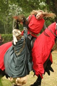Die Ausbildung zum Ritter absolvierten Jungen oft auf einer anderen Burg.
