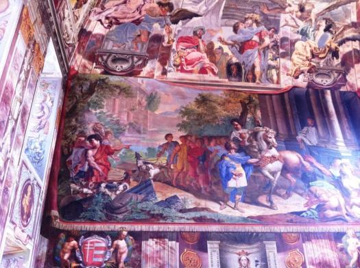 Decke im Château Troja