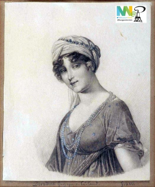 Auch in der Zeit zwischen Aufstieg und Fall Napoleons und Wiener Kongress befand sich Europa im Umbruch. Ein Portrait Anna Dorothea von Kurlands, von Grassi.
