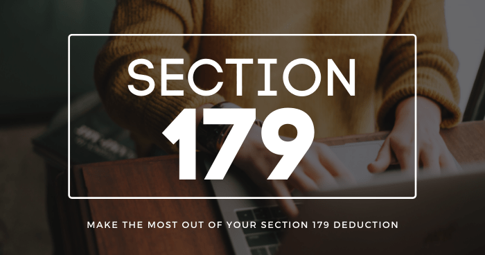 Section 179 and You: Equipment Tax Deductions