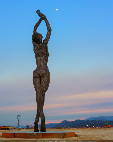 Burning Man Art Preview: Truth is Beauty and Setting Moon
