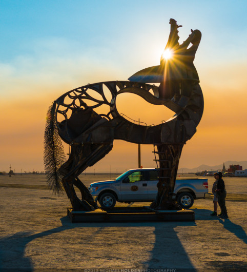 Burning Man Art Preview: Rangers and Coyote