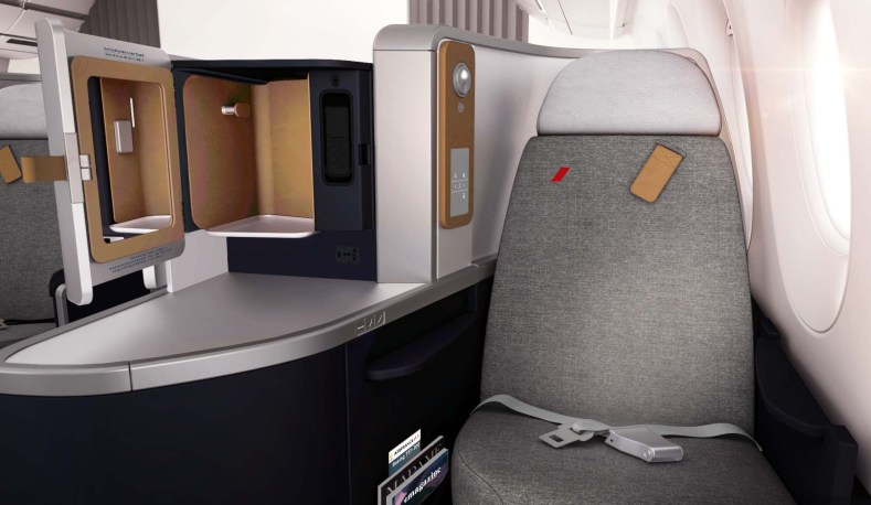 Air France Boeing 777 business class seat