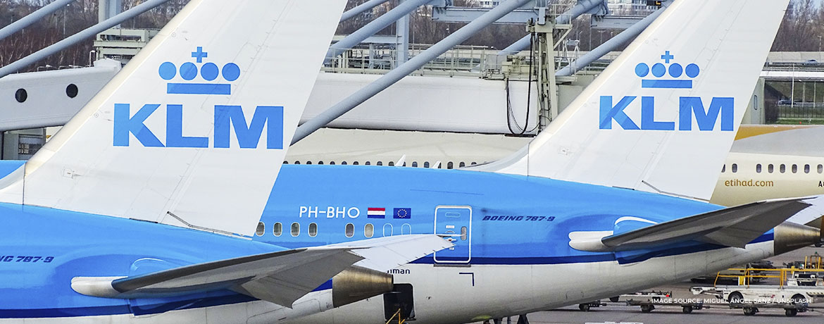 KLM Dreamliner business class