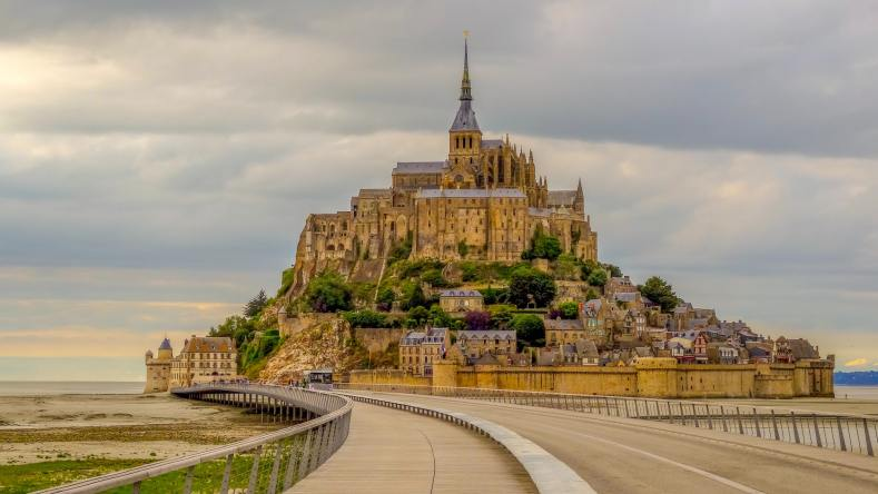 Most beautiful castle in Europe Mont Saint Michel Castle in France