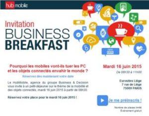 Business Breakfast Hub Mobile et Objets Connectés