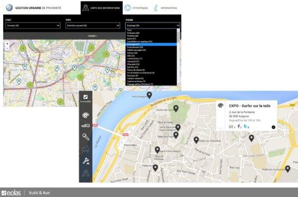 Datavisualisation : cartes et filtres à facette
