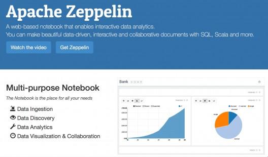 Page d'accueil de Zeppelin