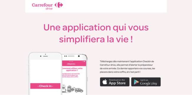 L'application Check In Carrefour