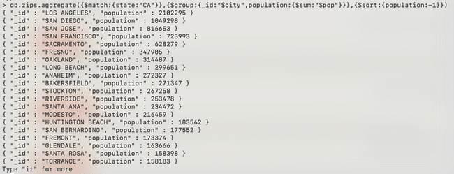 MongoDB : Agrégation - zip-match-sum-sort