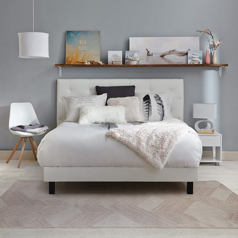 chambre cocooning plaid fourrure
