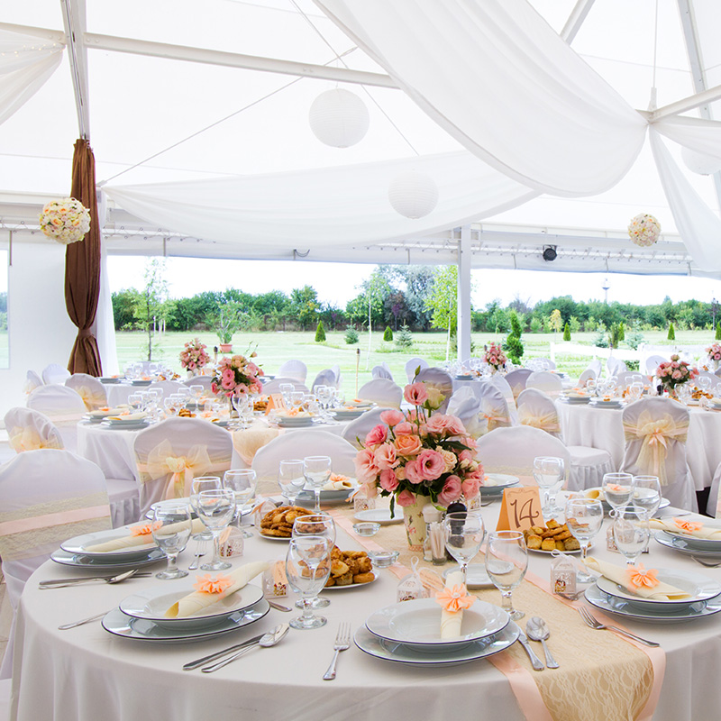table mariage exterieur