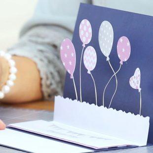 Grusskarten Basteln Fur Geburtstage Geburtstagskarte Mit Vogeln