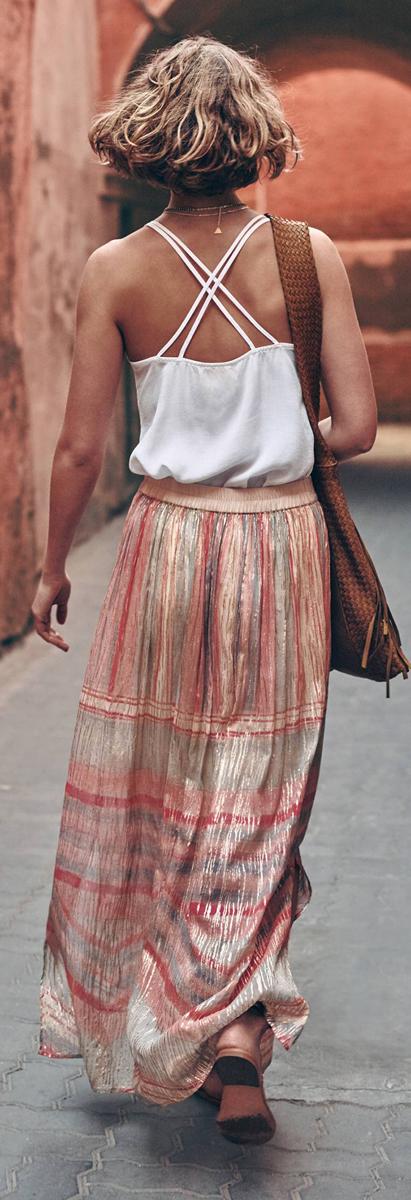 Anthropologie Daybreak Maxi Skirt