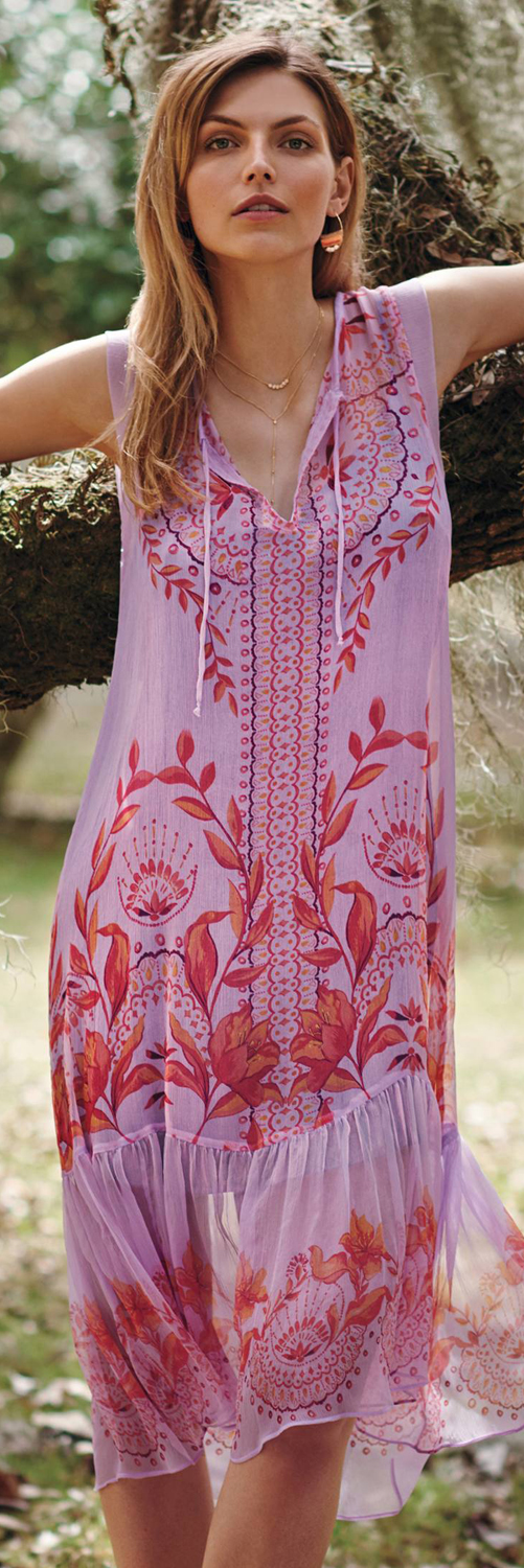 Anthropologie Wisteria Silk Dress