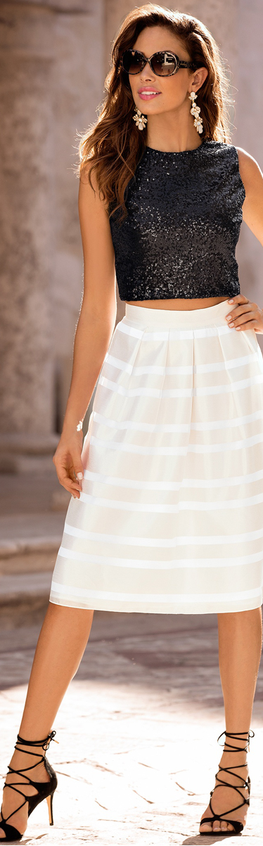 Burnout A Line Skirt