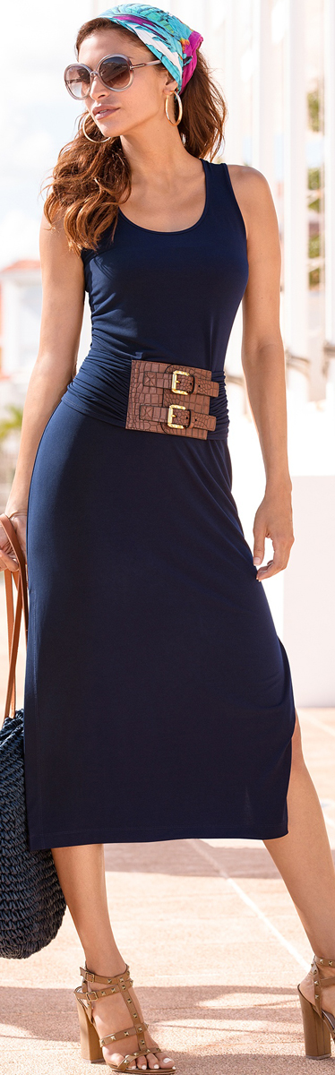The It Belted Midi Dress
