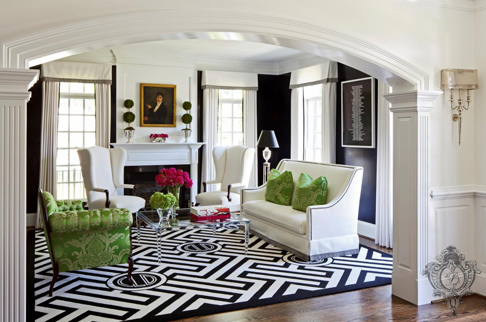 Pantone Greenery Living Room | Decorating with Green | Kelly Burke Interiors
