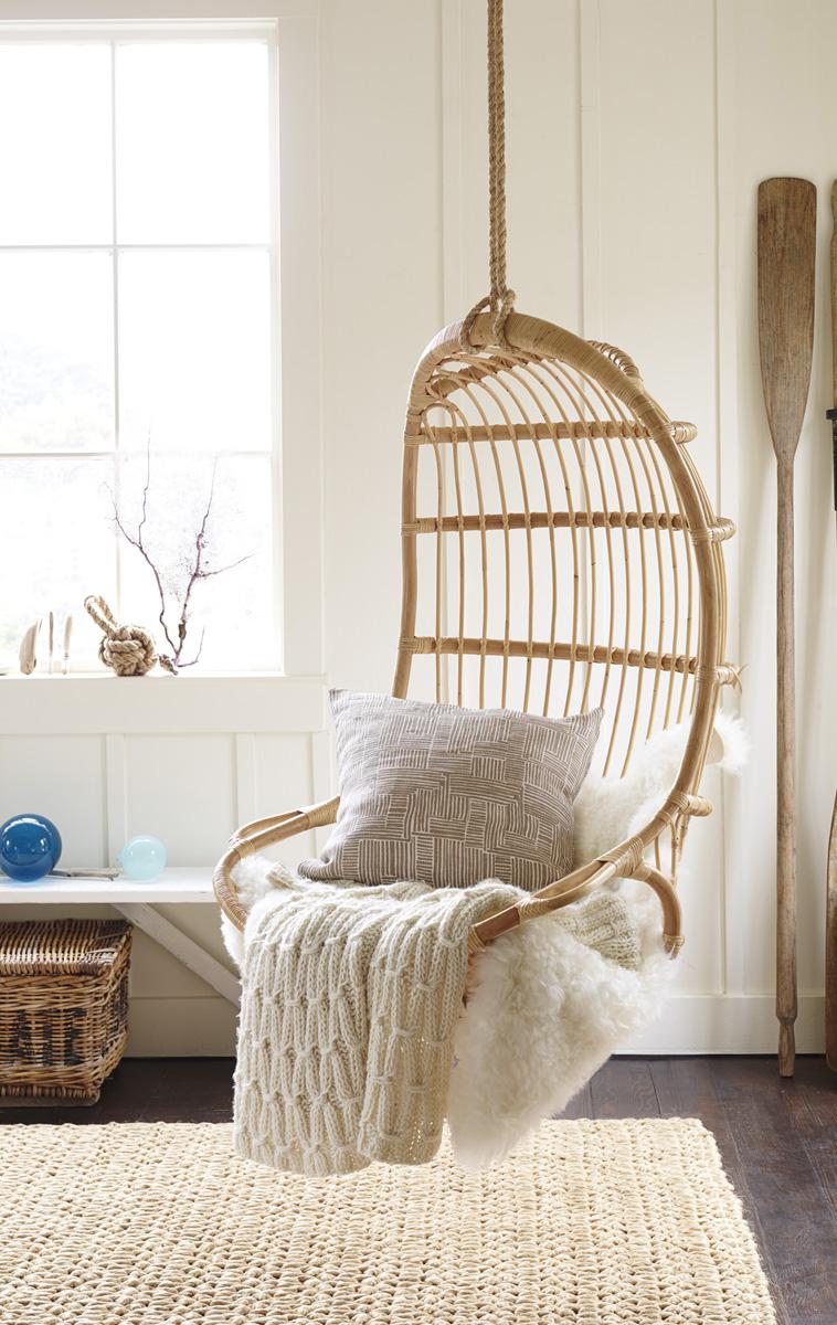 Chair & Sheepskin Throw