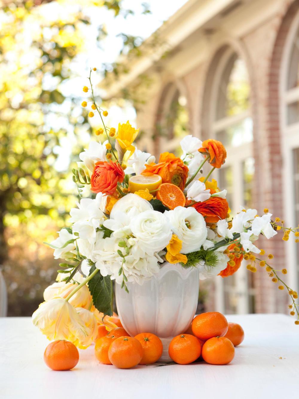 Easter Decorating in Orange