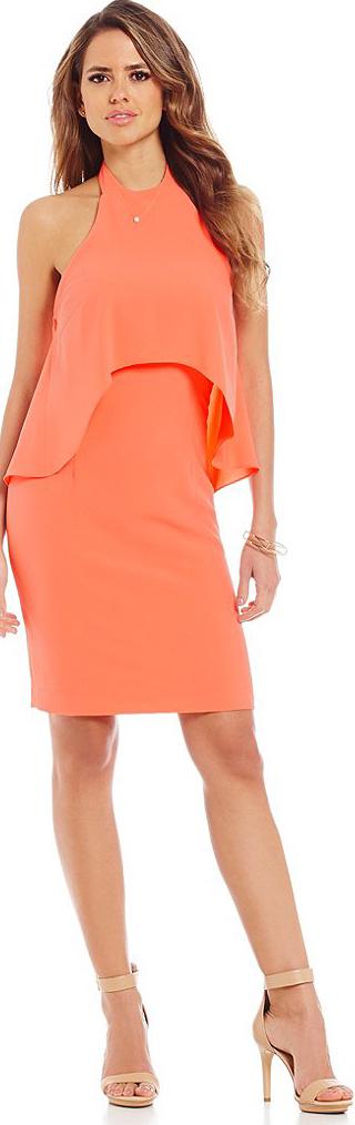 Halter Neck Popover Dress