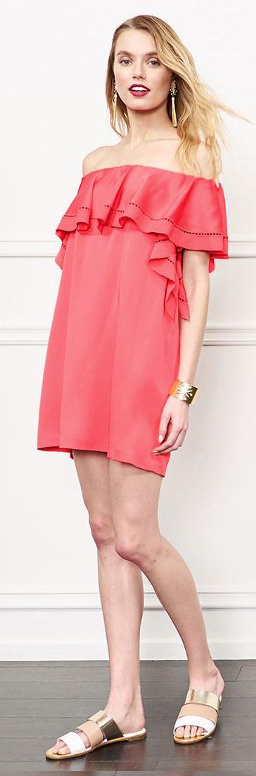 Rachel Zoe Madeylyn Off -The-Shoulder Mini Dress