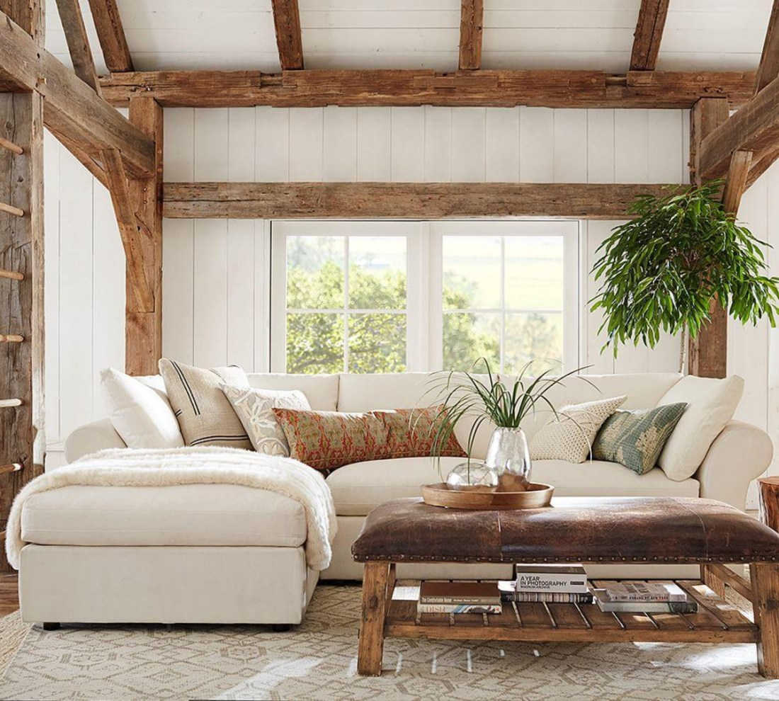 Modern Rustic Decorating | 4 Piece Sofa