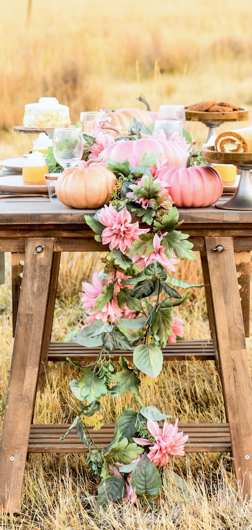 Fall Pumpkin & Floral Tablescape by Kara's Party Ideas