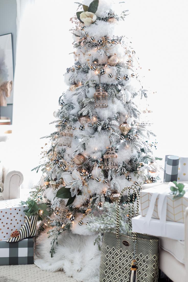 Black & White Christmas Tree