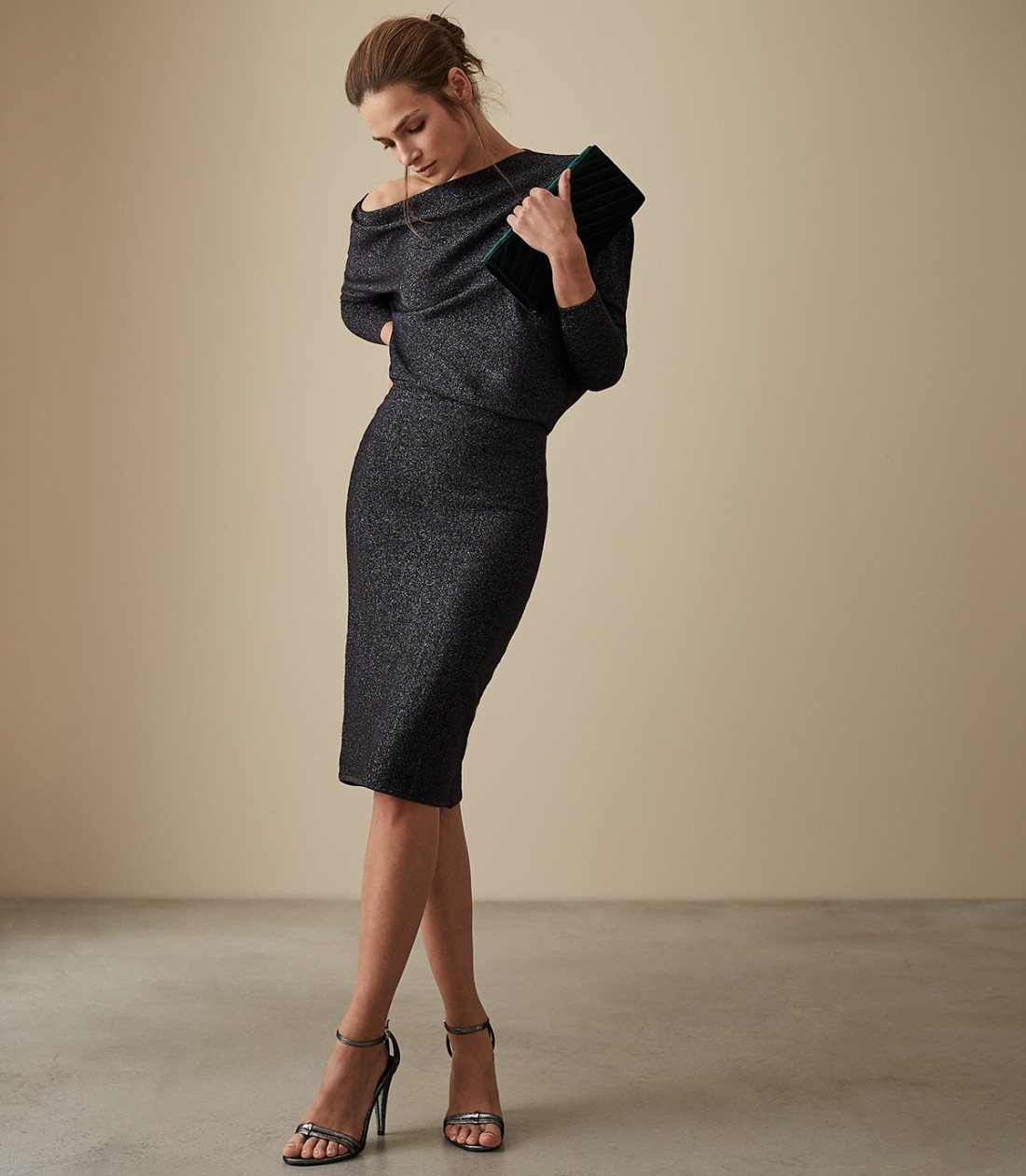 Rayna Metallic Knitted Dress