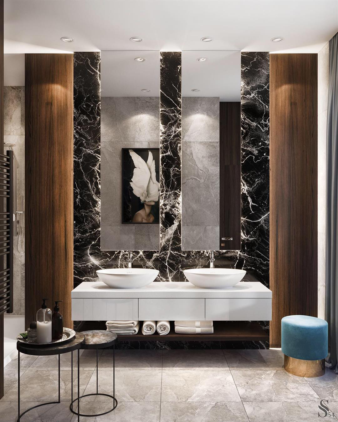 Sleek & Modern Bath by Studia 54