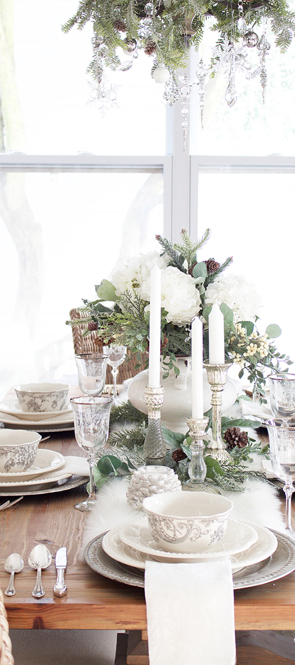 White Tablescape by Tuft & Trim