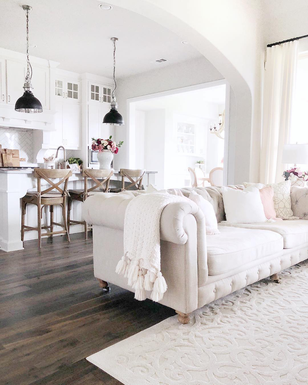 White Farmhouse Living Room