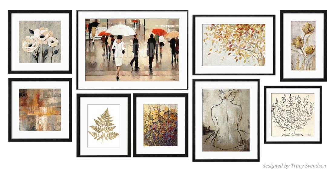 Gallery Wall Design by Tracy Svendsen