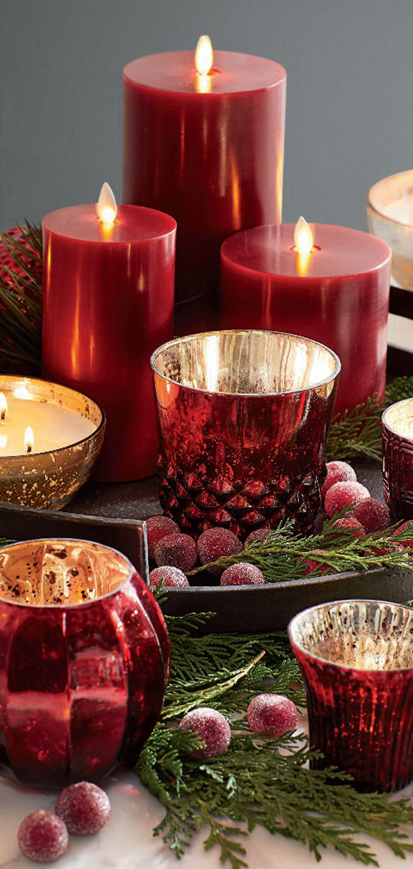 Christmas Candles & Votives | Christmas Decorating Ideas