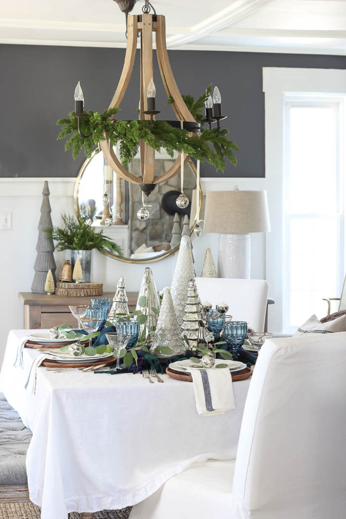 Blue & Green Christmas Table Setting | Rooms for Rent Blog