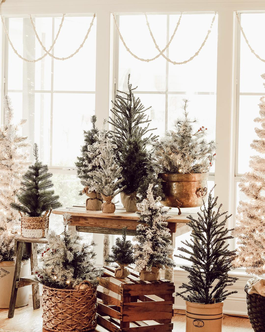Rustic Christmas Trees | Beauty For Ashes Home