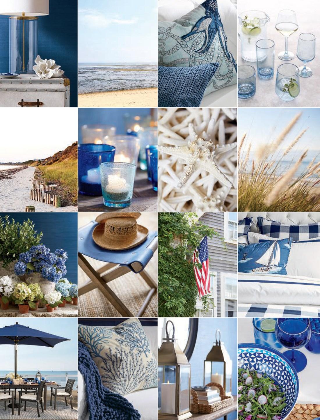 Coastal Decorating Ideas   Pottery Barn Summer 2019