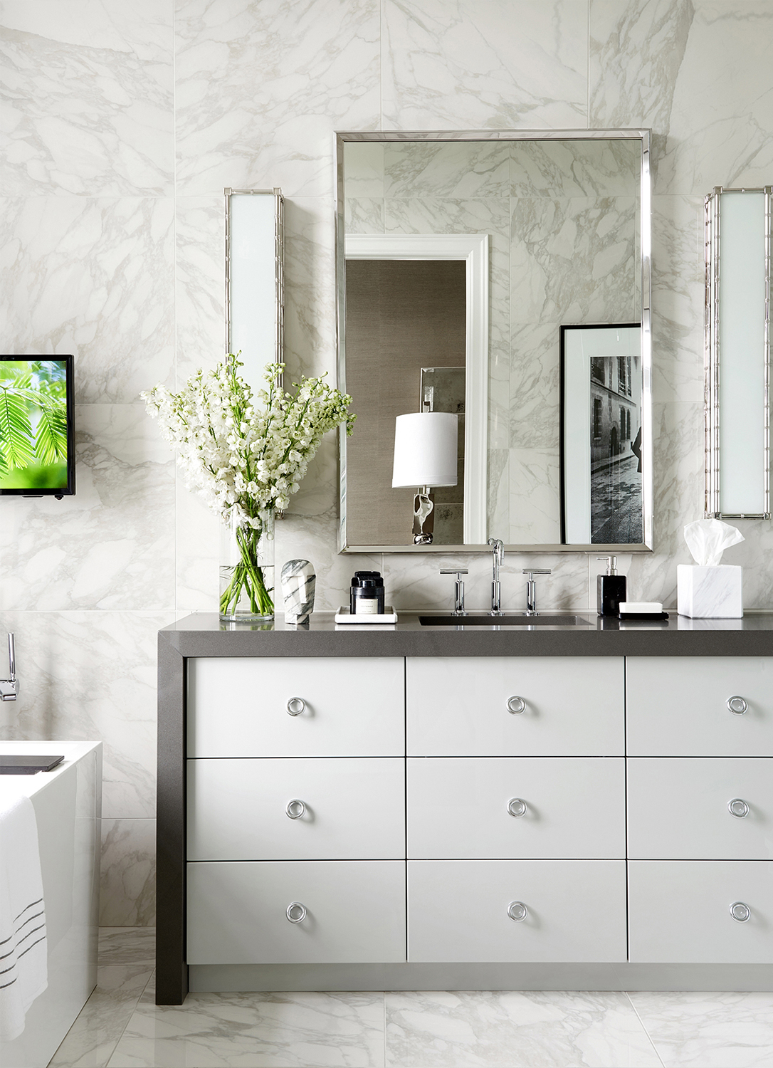 Glamorous Bathroom Ideas | Luxe on Broadway | Atmosphere Interior Design