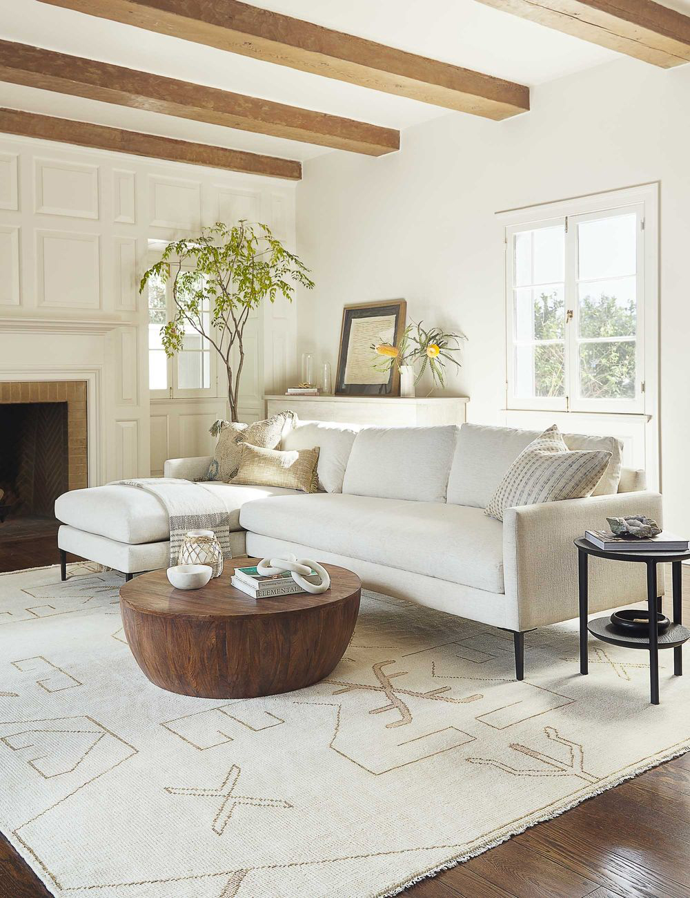 Soft Textures Living Room