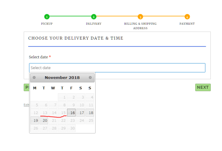 Choose delivery date and time for you laundry