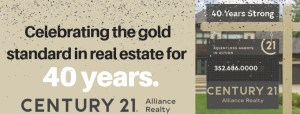 40th Anniversary for Century 21 Alliance Realty