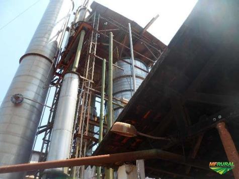 Destilaria processo coluna