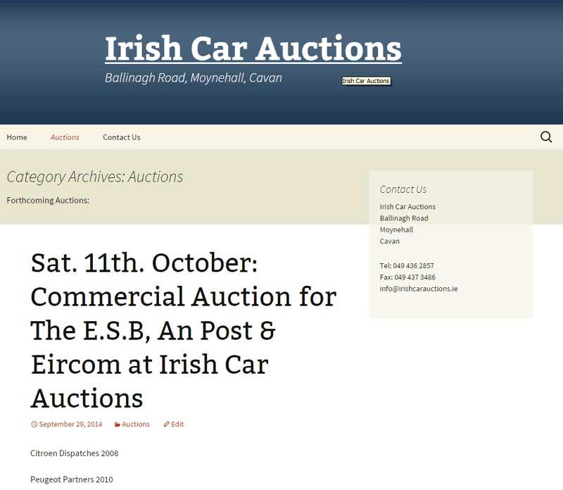 irish car auctions