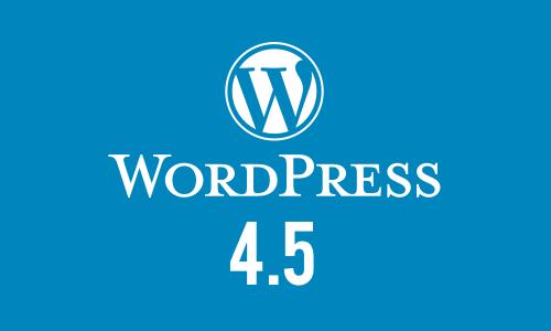 wordpress4.5
