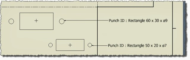 Customised Punch ID shown in the DWG