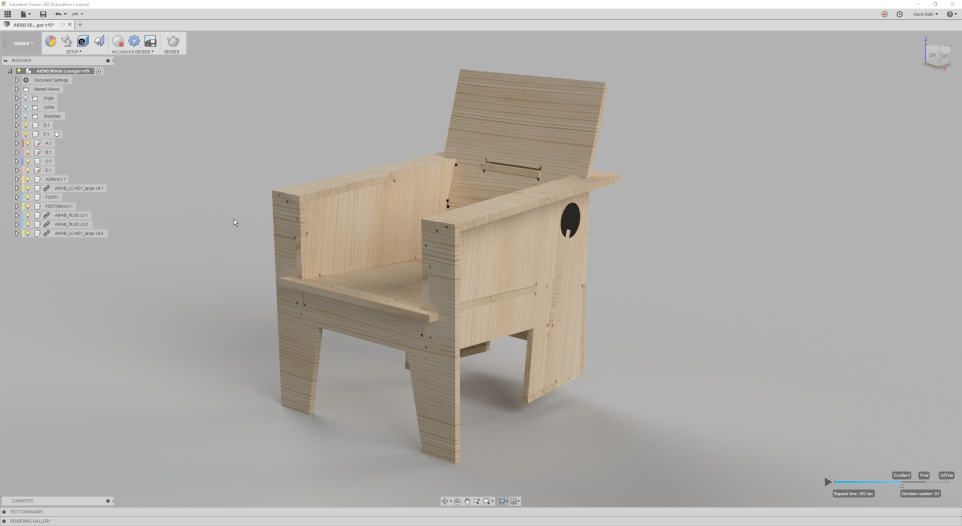 AtFAB Ninety Minute Lounge Chair - Render